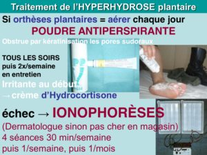 osteopathie hyperhydrose plantaire